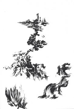 Cécile Ravel - dessin Déambulation #1