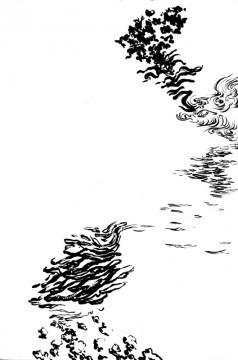 Cécile Ravel - dessin Déambulation #8