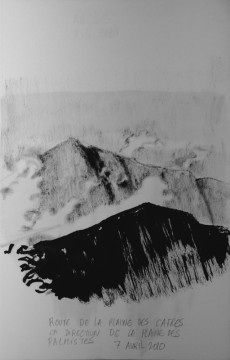 Cécile Ravel - dessin Impression #3 - La Réunion