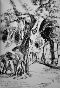Cécile Ravel - dessin Impression #18 - La Réunion