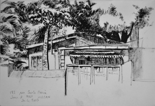 Cécile Ravel - dessin Impression #19 - La Réunion
