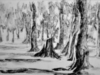 Cécile Ravel - dessin Impression #21 - La Réunion