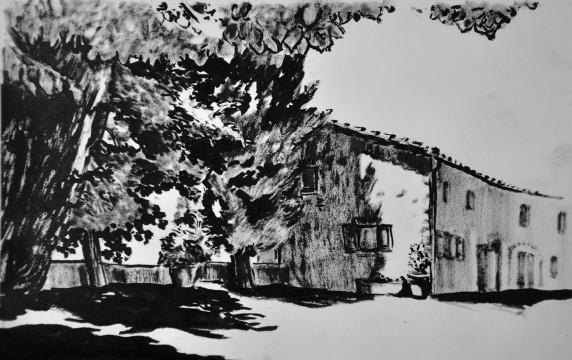 Cécile Ravel - dessin Impression #25 - Toscane