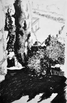 Cécile Ravel - dessin Impression #26 - Toscane
