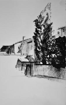 Cécile Ravel - dessin Impression #28 - Toscane