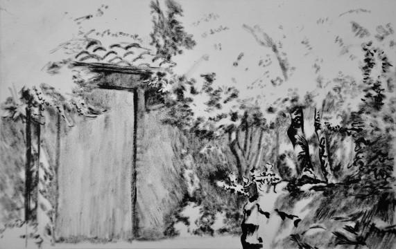Cécile Ravel - dessin Impression #30 - Toscane