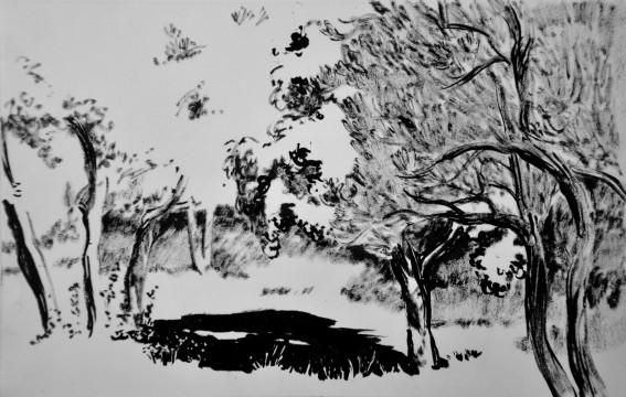Cécile Ravel - dessin Impression #32 - Toscane