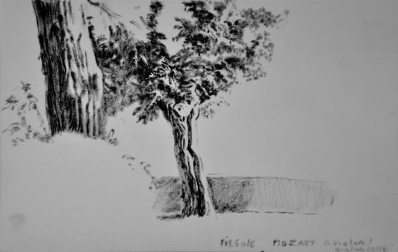 Cécile Ravel - dessin Impression #33 - Toscane